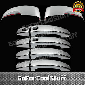 For Ford Focus 13 14 4drs Handle W smrtkh mirror W signal 2pc Chrome Covers