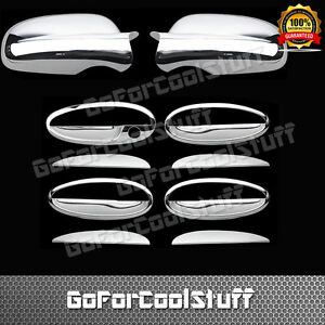 For Chevy Impala 2002 03 04 2005 4 Door Handle W O Pskh Mirror Chrome Cover