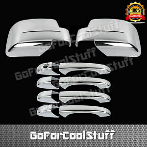 For Jeep Patriot 08 12 4drs Handle W o Pskh full Mirror 2pc Chrome Covers
