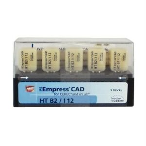 Ivoclar Vivadent Ips Empress Cad For Cerec Ht B2 I12 5 Blocks