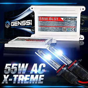 Genssi 55w Hid Kit Headlight Bulbs Conversion 9006 H11 9007 H13 H1 H4 H7 9005