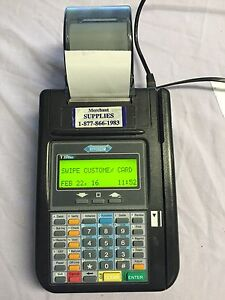 Hypercom T7 Plus Pos Credit Card Terminal Reader Printer With Power Supply