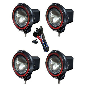4 Inches 4x4 Off Road 6000k 55w Xenon Hid Fog Lamp Light 4pcs Spot Light Relay