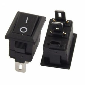 2x Spst On Off Black Square I O Rocker Switch Mini Small 12v Automotive Car Boat
