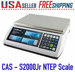 Cas S2000jr 15 Lb X 0 002 Lb Ntep Price Computing Retail Scale Lcd Display
