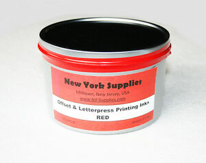 Red Offset Letterpress Printing Ink 2 5 Lbs