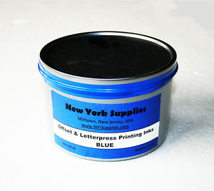 Blue Offset Letterpress Printing Ink 2 5 Lbs