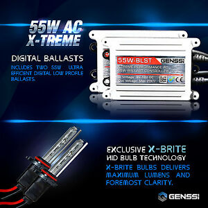 Genssi 55w X treme Hid Bulbs Kit Xenon White Or Blue h11b H1 H4 9003 Etc