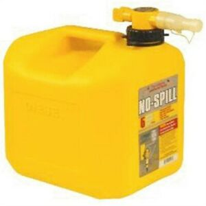No Spill 5 Gallon Yellow Diesel Gas Can no 1457 No Spill Inc