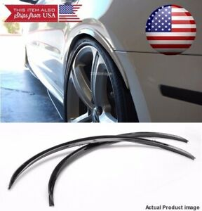 1 Pair Black 1 Flexible Arch Wide Body Fender Well Extension Guard Lip For Ford