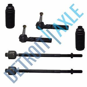 New 6pc Front Inner And Outer Tie Rod End Set Buick Chevy Pontiac Saturn Relay