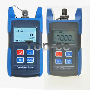 Fiber Optical Light Source Optical Power Meter With Fc sc Adapter Ftth Tool