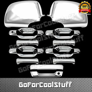 For Chevy Colorado 2004 2013 Chrome Mirror 4 Doors Handles Tailgate Covers