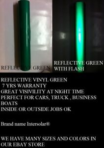 Green Reflective 24 x 150 Feet Vinyl Adhesive Sign Plotter Hight Reflectivity