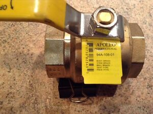 2 Forged Brass Threaded Ball Valve By Apollo