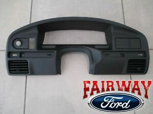 94 Thru 97 F150 F250 F350 Sd Oem Ford Instrument Cluster Dash Panel Bezel Gas
