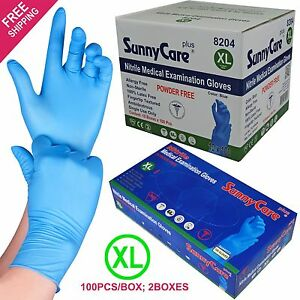 1000 case Disposable Powder free Nitrile Medical Exam latex Free Gloves xl