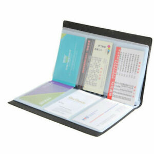 120 Cards Business Name Id Credit Card Holder Book Case Keeper Organizer