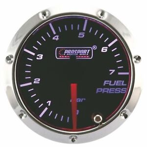 Prosport 7 Color Led 52mm Smoke Fuel Pressure Gauge Bar