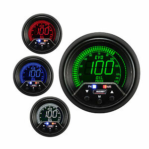 Prosport 60mm Evo Red Blue Green White Led Oil Pressure Gauge Psi Peak