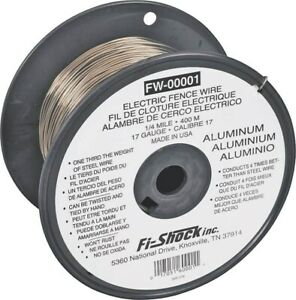 17ga Alum Fence Wire 1320ft no Fw 00001t Fi shock Inc