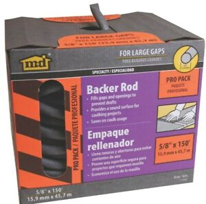 Caulk Backer Rod 5 8in X 150ft no 71552 M D Building Products
