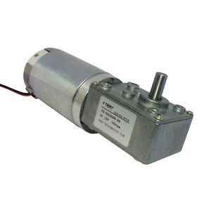 Dc Worm Reducer Gear 12v 160rpm High Torque Motor Electric Motor With Reduction