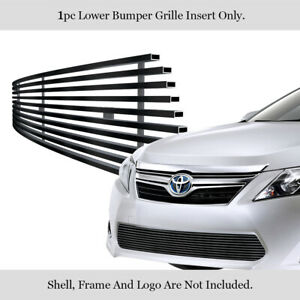 Fits 2012 2014 Toyota Camry Stainless Steel Black Bumper Billet Grille