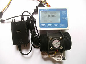 G 2 2 Inch Flow Water Sensor Meter lcd Display Controller 5 300l min 24v Power