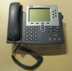 Cisco 7960g Ip Phone With Base Stand Handset Cord
