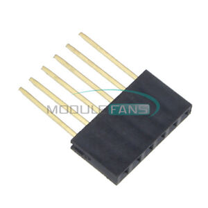 50pcs For Arduino 6 pin Single Row Stackable Shield Female Header 2 54mm Pitch