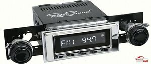 1967 69 Dodge Dart Retro Classic Am fm Radio Black Knobs