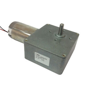 Dc 12v High torque Worm Gear Motor Low Speed 14rpm Gearbox Reductor 8mm Shaft