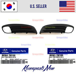 Front Left Right Fog Light Covers Trim 2pcs Fits For Genesis Coupe 2009 2011