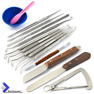 Dental Laboratory Technician Kit P k Thomas Wax Modelling Plaster Spatula Knives
