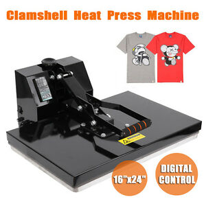 16 x24 Clamshell Heat Press Transfer T shirt Digital Sublimation Machine