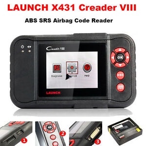 Launch X431 Creader Viii Crp129 Abs Srs Obd2 Code Reader Scanner Diagnostic Tool