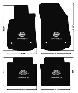 New Black Floor Mats 2014 2018 Chevy Impala Embroidered Double Logo On All 4