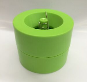 Magnetic Paper Clips Holder 150pc Silver Paper Clips Include Yellow green