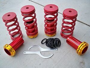 For 88 00 Civic 94 01 Integra Lowering Coilovers Sleeves Adjustable Red Springs