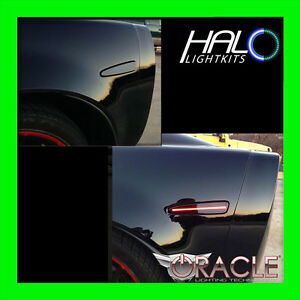 2005 2013 Oracle Chevy Corvette C6 Concept Black Ghosted Led Sidemarkers 4pc
