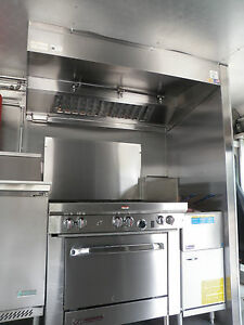 12 Ft Type L Food Truck Concession Trailer Kitchen Grease Hood Blower Curb
