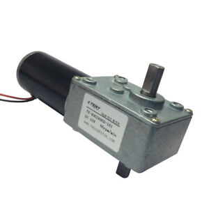 Dc 12v 55rpm Micro Worm Gear Box Motor Double Out Shaft 8mm Speed Gear Reducer