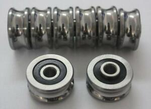 1pc Sg35 U Groove 12 42 19mm Sealed Ball Track Guide Bearing Textile
