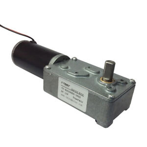Dc 12v Low Speed 3rpm Electric Worm Geared Motor With Double Out Shaft 8mm