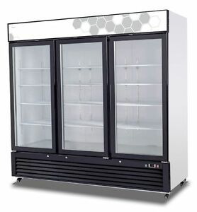 Migali C 72fm hc Commercial Three Glass Door Freezer Merchandiser