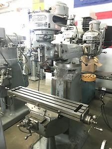 Bridgeport J Head Milling Machine With Cherrying Head