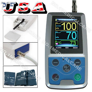 Contec Ambulatory Blood Pressure Monitor Usb Pc Software 24h Nibp Holter Abpm50