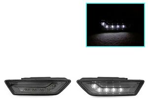 White Led Smoke Side Marker Lights For 2012 14 Mercedes Benz W218 Cls 550 Class