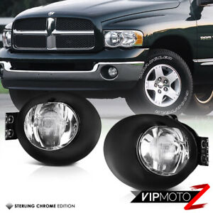 02 08 Dodge Ram 1500 2500 3500 Driving Bumper Fog Lamps Lights Pair Right Left